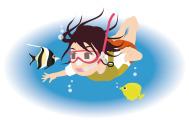 魚と触れ合う!シュノーケル体験