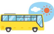 バスツアーを楽しんでいます
